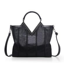 2016 Winter Simple Style Large Women's Top-Handle Bag Handbag Vintage PU Leather Weave Shoulder Bag Designer Lady Tote BT000611