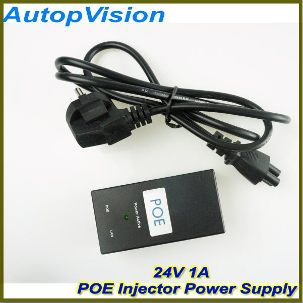 5PCS Free Shipping! Desktop POE Injector 10/100Mbps Power Supply Input 100V-240V Output 24V 1A