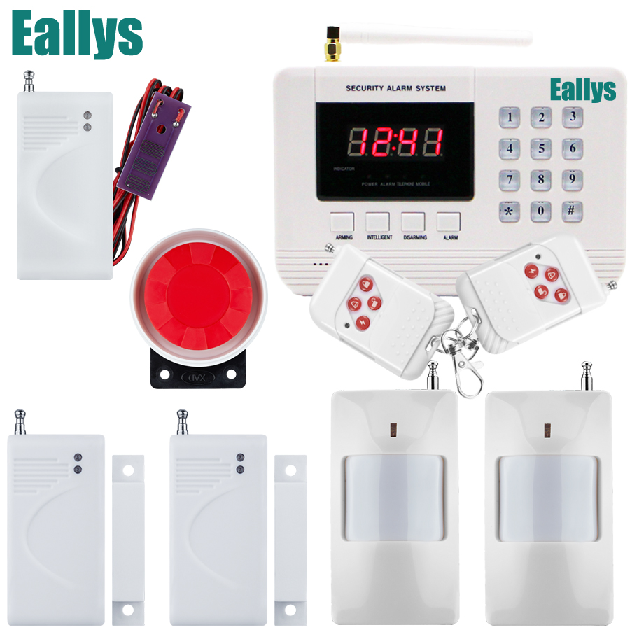 LCD Keyboard Wireless Home GSM PSTN Alarm systems House intelligent auto dial Burglar Security Alarm System kit +water sensor wireless gsm pstn auto dial sms phone burglar home security alarm system yh 2008a