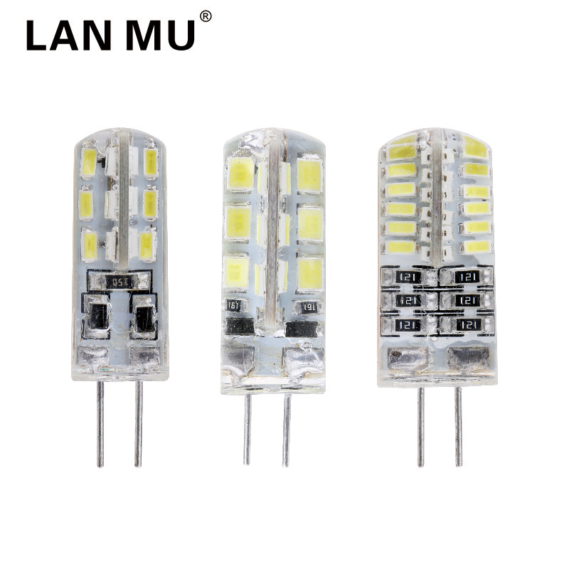 LAN MU DC12V G4 LED Bulb 24 48 LEDs G4 Lamp Light for Crystal Chandelier G4 LED Lights Lamp Replace halogen Spotlight g4 led bulb