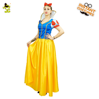 Deluxe Snow White Princess Cosplay Costume Halloween Carnival Party Classical Fairytale Snow Beauty Princess Cosplay Fancy