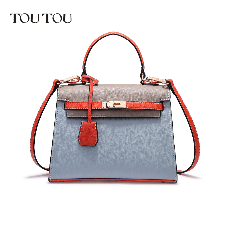 TOUTOU handbags In 2018 new Brand fashionable joker The high quality worn bump color detachable shoulder bag Free shipping цена