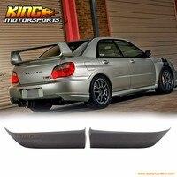 Подходит для 2006 2007 Subaru Impreza WRX valance Spats задний бампер для губ Splitter черный PU