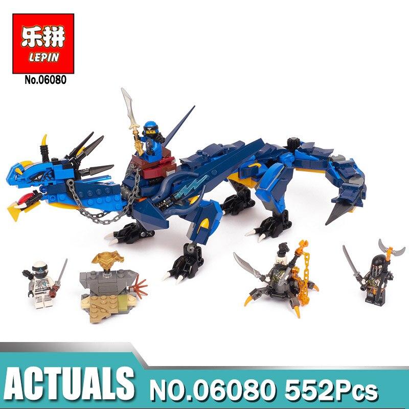 Lepin 06080 06051 Ninjagoings Serie Stormbringer Set Drago Compatibile Legoing 70652 70612 Modello Building Blocks Giocattoli Dei Mattoni