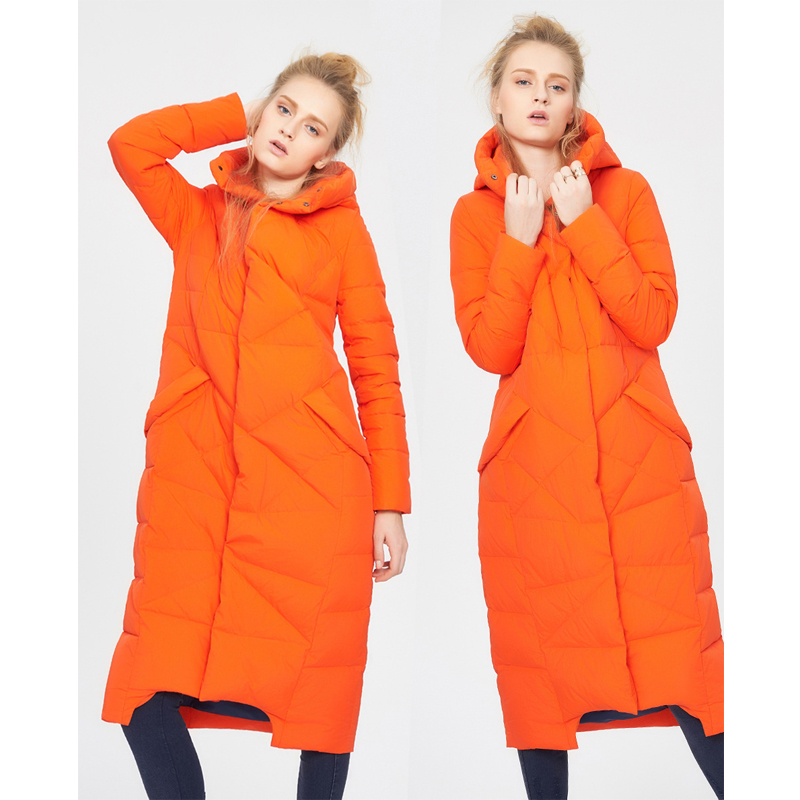 2017 winter new fashion women's long hooded down jacket female Maternity coat worm down coat outerwear good quality 2017 new winter fashion women down jacket hooded thick super warm medium long female coat long sleeve slim big yards parkas nz18