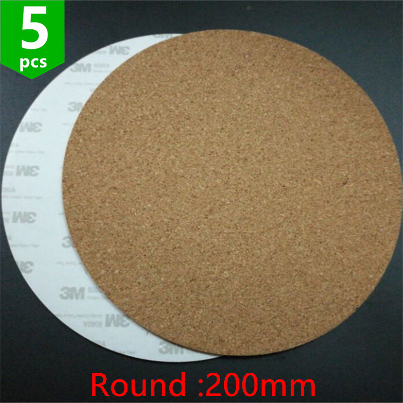 2pcs* 200mm Round Adhesive Cork Sheets For Kossel 3d Printer Mk2y Heatbed Heat Bed Hot Plate Issulation Cork Sheet Beneficial To Essential Medulla Computer & Office