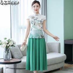 2019 летнее традиционное китайское платье Ципао танцевальный костюм древняя одежда для сцены национальная одежда Cheongsam винтажное платье