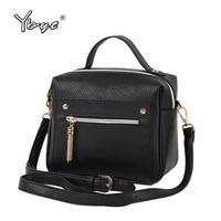 YBYT Brand 2017 New Fashion Casual PU Leather Solid Women Handbags Hotsale Ladies Shopping Bga Shoulder