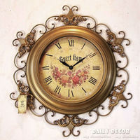 63cm Mute relogio de parede vintage metal luxury antique time wall clock decorative large old wall mounted clock reloj de pared