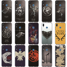 Game Thrones Wolf Family Phone Case For Huawei Honor 10 Lite 9 8 7A 7C 7X 7 6A Jon Snow Tyrion Lannister Soft Silicone TPU Cover