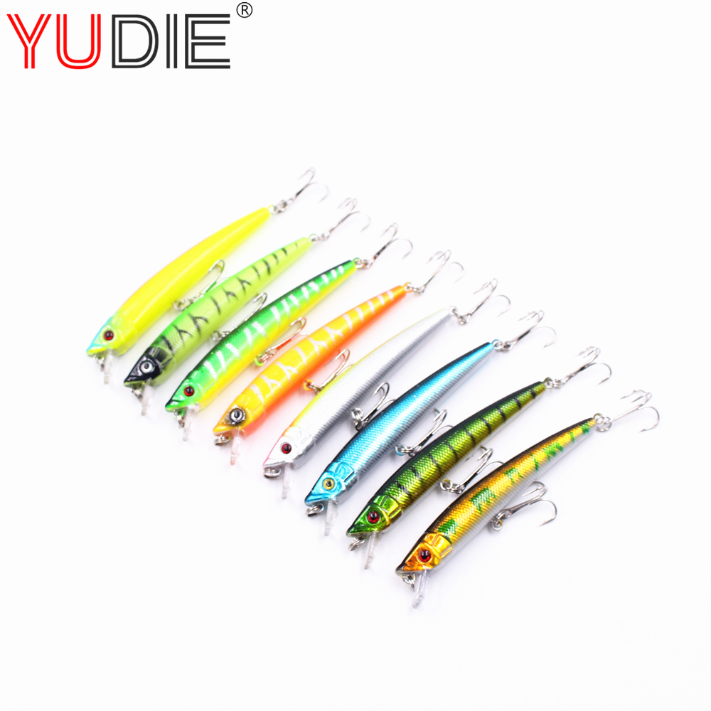 1Pcs 9cm 7.7g Fishing Tackle Hard Minnow Top Water Lure Artificial Crank Bait Pencil 8 Color Fishing 6# Hook Wobblers Spinner wldslure 1pc 54g minnow sea fishing crankbait bass hard bait tuna lures wobbler trolling lure treble hook