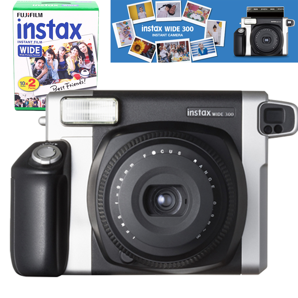 100 authentic fujifilm instax wide 300 film instant camera fuji instant 210 wide plain white. Black Bedroom Furniture Sets. Home Design Ideas