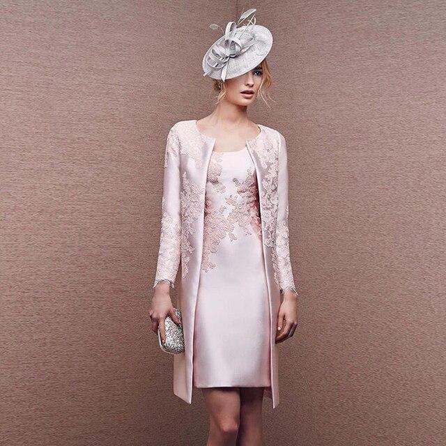 Moderne Rosa Spitze mutter der braut kleid 2017 Plus Größe 2 stücke ...