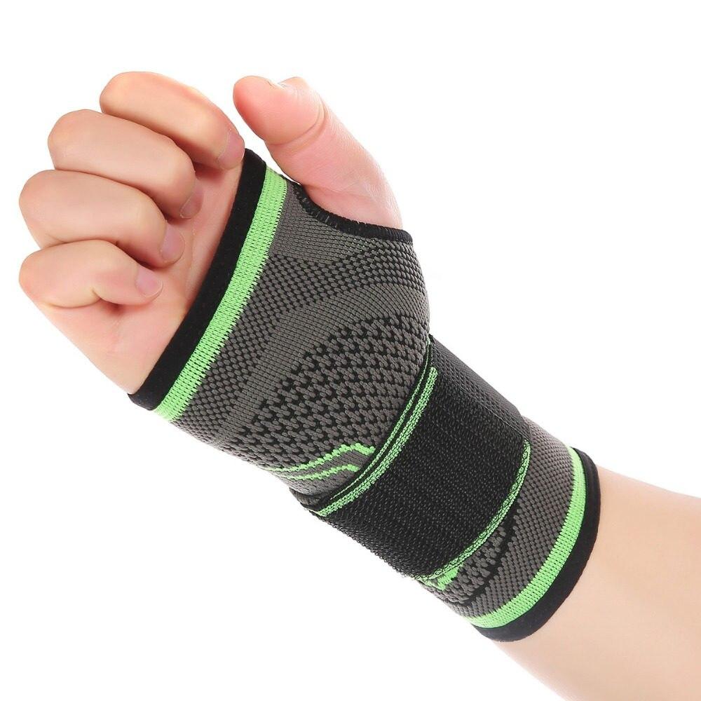 3D Tecelagem Pressurizado de Alta Bandagem Elástica Pulso Palma Suporte de  Fitness Yoga Crossfit Ginásio Powerlifting 147680f5619e0