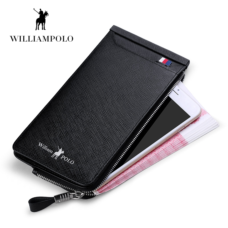 WILLIAMPOLO 2019 Casual Cow Leather Cash Holder 22 Credit Card Holder Wallet Drivers License Wallet PL185136