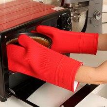 Anti-Wärme Silikon Topflappen Rutschfeste Mitt Kochen Werkzeuge Grill Küche Gadgets BBQ Mikrowelle Farbe Rot 1 Stück