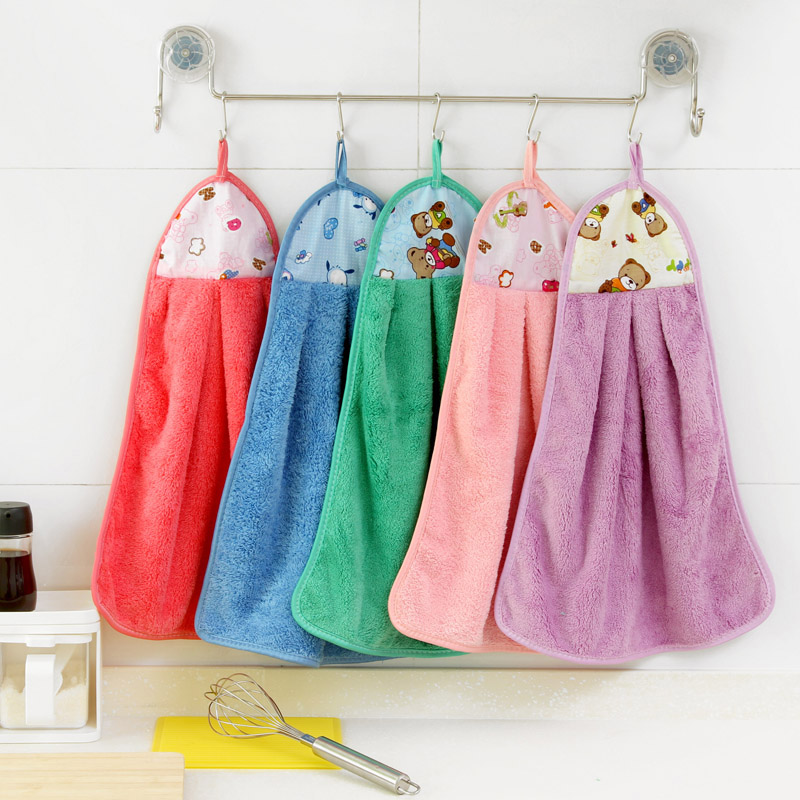 Kitchen Hand Towel Quality Cotton Wash Decorative Holder Bamboo Soft