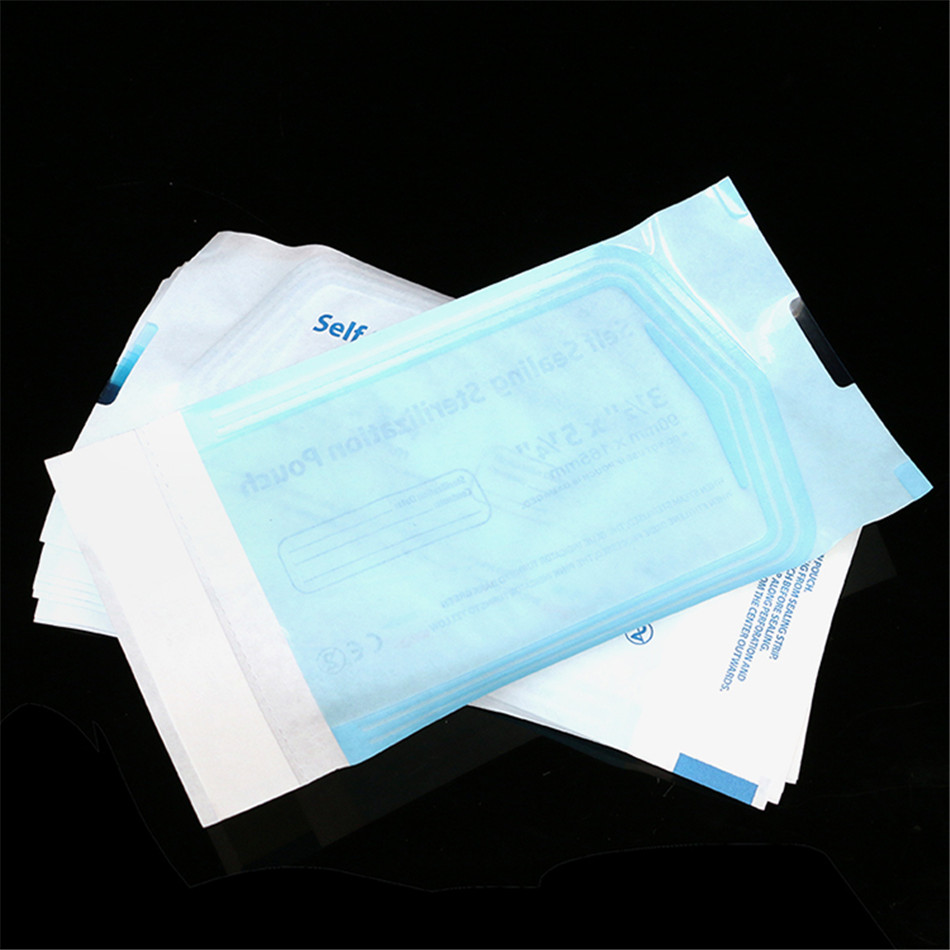 165X90mm 200Pcs Disposable Tattoo Cleaning Bag accessories Sterilization Medical Sterilized Pouches Self-Sealing accessories