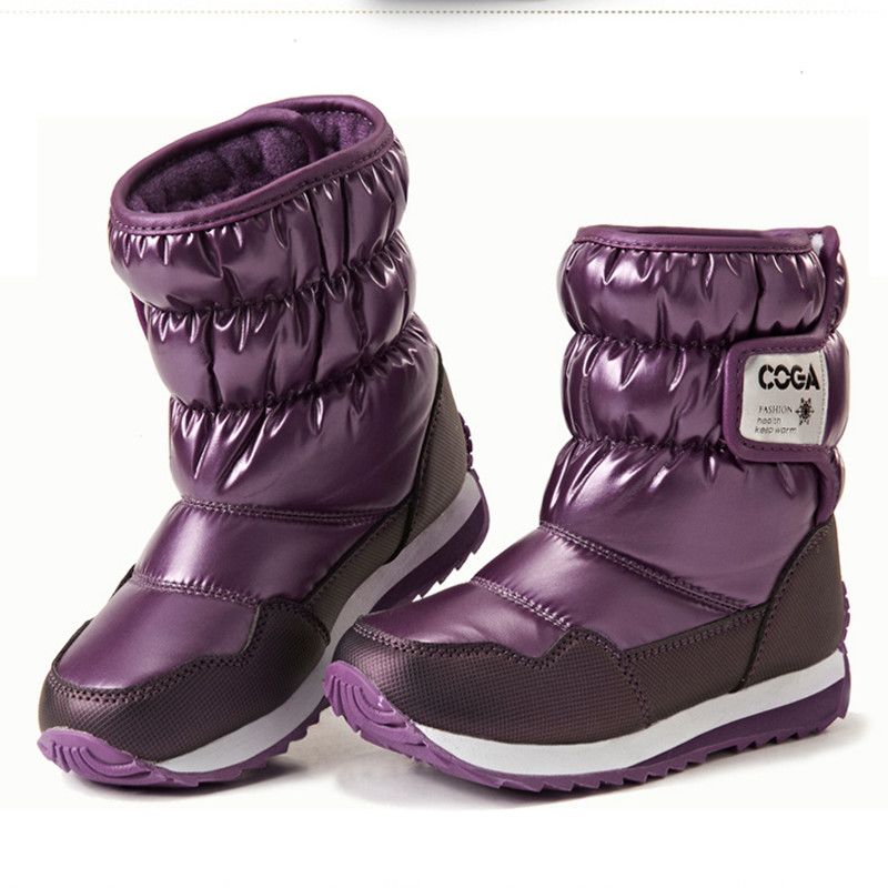 Children Warm Boots Shoes For Boy Girl Thicken Plushs Sport Shoes Male Female Snow Boots