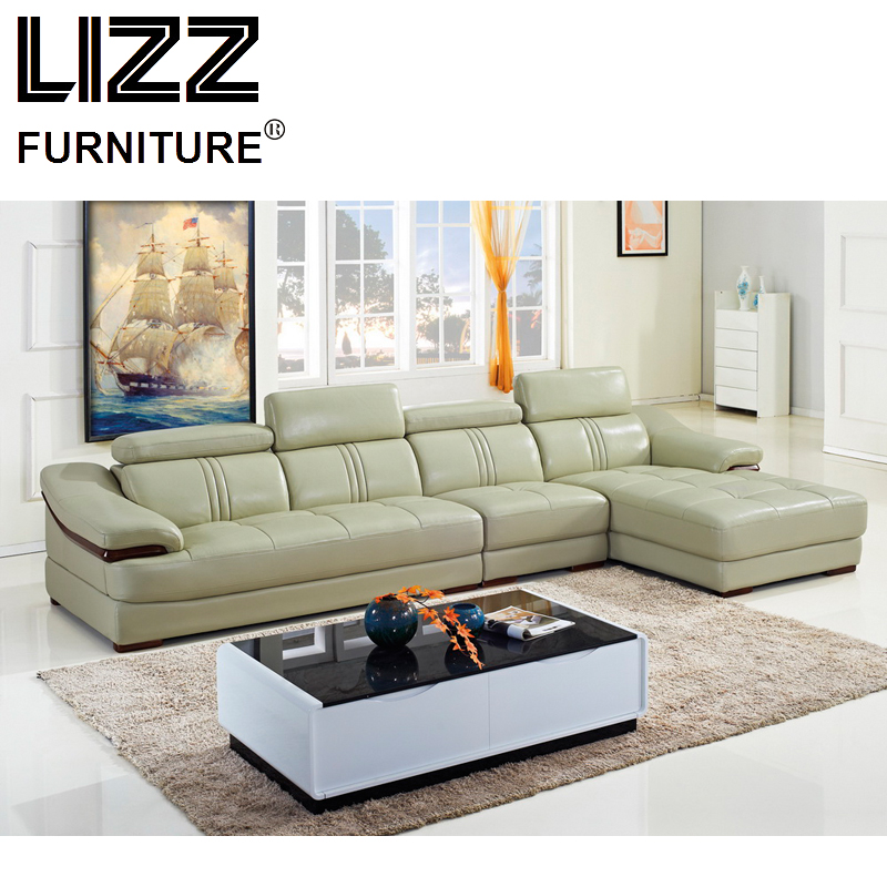 Luxury Furniture Set Genuine Leather Sofas For Living Room Modern Sofa Loveseat Chair Chesterfield Sectional Sofa LZA07 ...