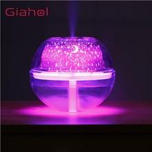 GIAHOL 500Ml Led Night Lightความชื้นUSB Ultrasonic Aroma 3Dขนาดใหญ่DiffusersโคมไฟMist Maker Mute Air Conditioner Diffusor