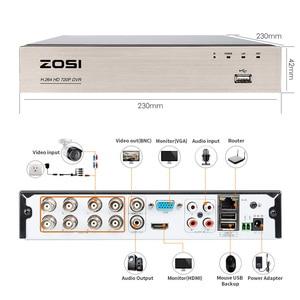 Image 4 - ZOSI 8CH الأمن نظام الكاميرا HD TVI 1080N فيديو مسجل دي في أر 1 تيرا بايت HDD مع 4x HD 1280TVL 720P داخلي في الهواء الطلق كاميرات الدوائر التلفزيونية المغلقة
