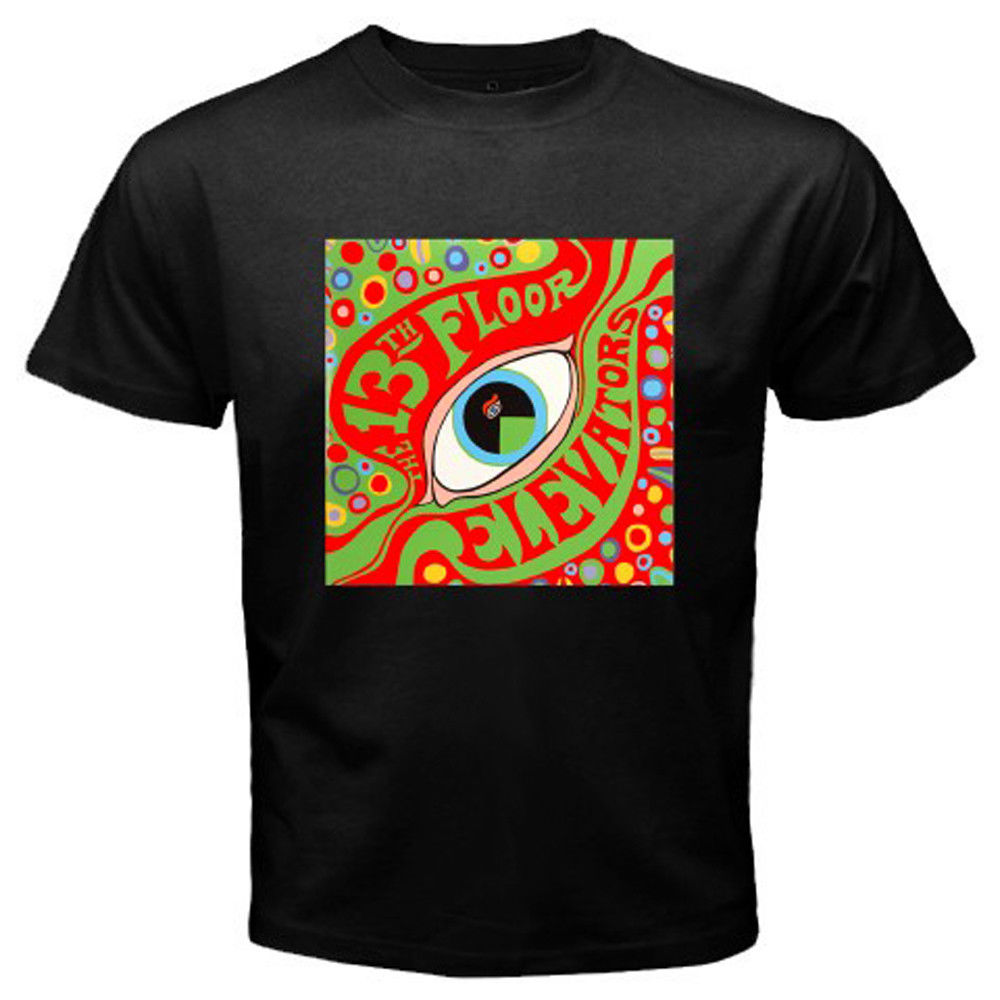 New The 13th Floor Elevators Rock Band Logo Mens Black T-Shirt Size S-3XL O-Neck Tee Shirt top tee