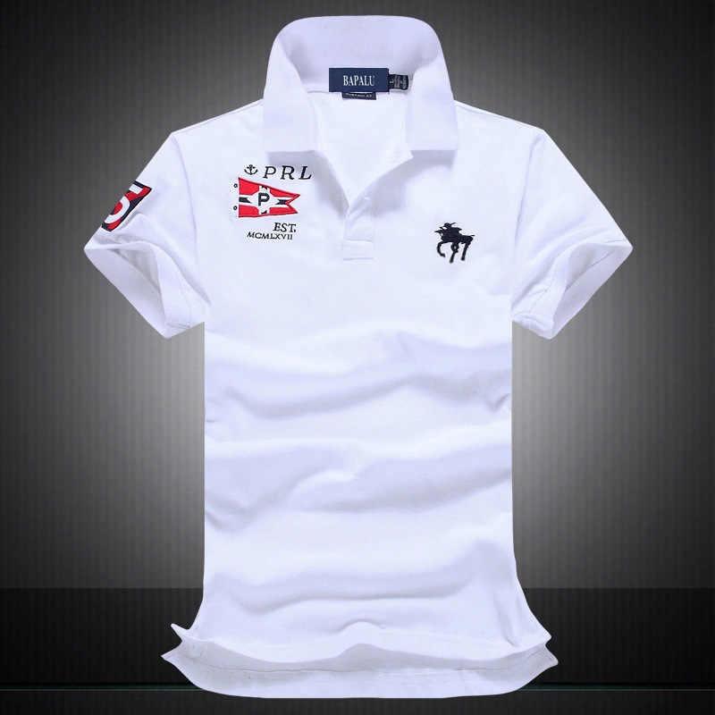 8b55dd389 2019 famous brand Men Polo Shirt Short Sleeve polo mens Embroidery 100%  Cotton breathable polo