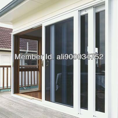 2971.8mm*1905mm, Double Glazing Aluminum Alloy Sliding Door, White Color With Powder Coating Finished