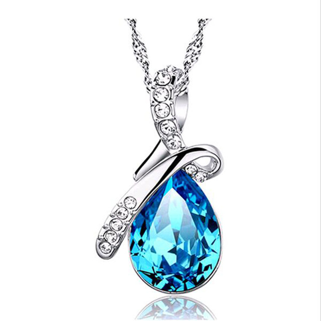 FAMSHIN gem Crystal Necklaces Pendants And Jewerly 2016 Necklace Women Cheap Fas