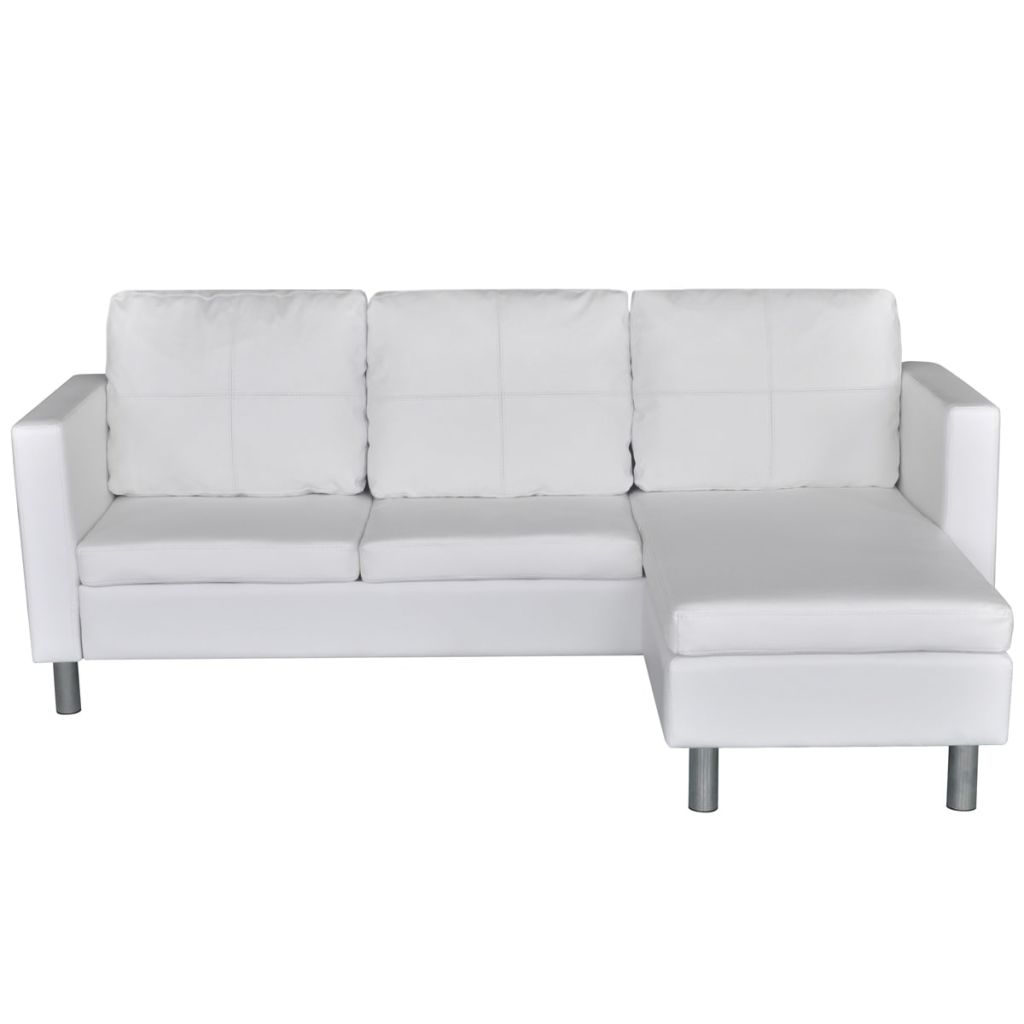 L Sofa Us 319 99 Vidaxl 3 Seater L Shaped Artificial Leather Sectional Sofa White In Living Room Sofas From Furniture On Aliexpress Alibaba Group