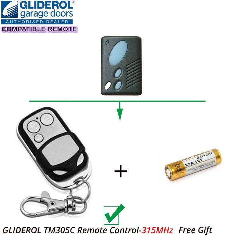 Gliderol TM-305C Compatible Rollamatic GRD II GTS Garage Doors Remote Control Hand Transmitter remote control compatible with accent garage doors cad602 b