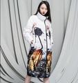 2016 Winter Jacket women Down jackets Maternity coats long print loose duck down coat women's outwear plus size downs jackets