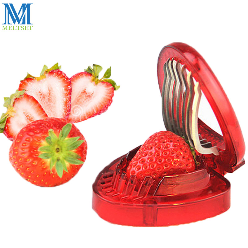 1PC Strawberry Slicer Fruit Vegetable Tools Carving Cake Decoration Cutter Shredder Cooking Kitchen Gadgets Accessories