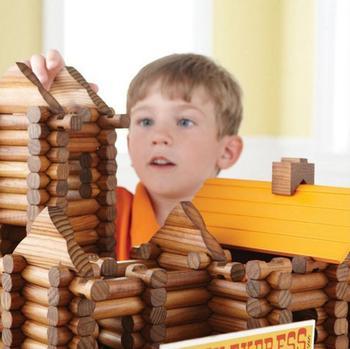 Onshine Brand 165 PCs Children wooden Treehouse cabin toys/ Kids Child creative assembling building villa