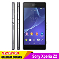 Original Unlocked Sony Xperia Z2 D6503   Cell Phones Quad Core 20.7 MP WIFI GPS RAM 3GB 5.2 Inch Touch Screen
