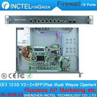 Internet yönlendirici ROS 8 Gigabit akış kontrol yönlendirici ile mikrotik E3 1230 V2 CPU Intel 1000 M 6 82583 V 2 Gigabit 82580DB fiber