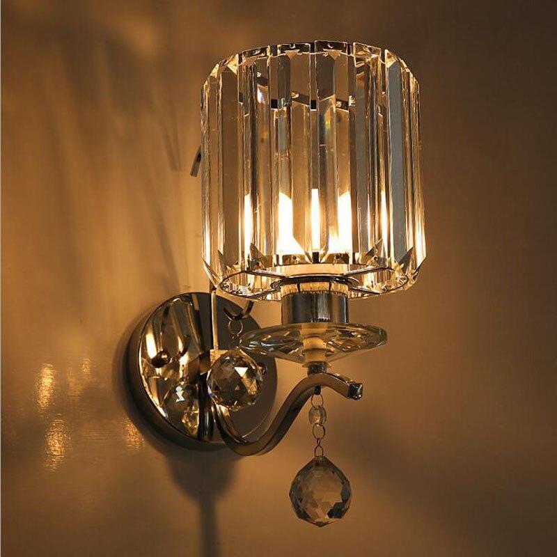 Современный минималистский хрустальные бра-отель Вилла дома ночники проход коридора гостиная бра led лампы освещения стены