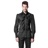 Punk Rave New Products Large Neck Laciness Male Shirt Slim Fit Jacket