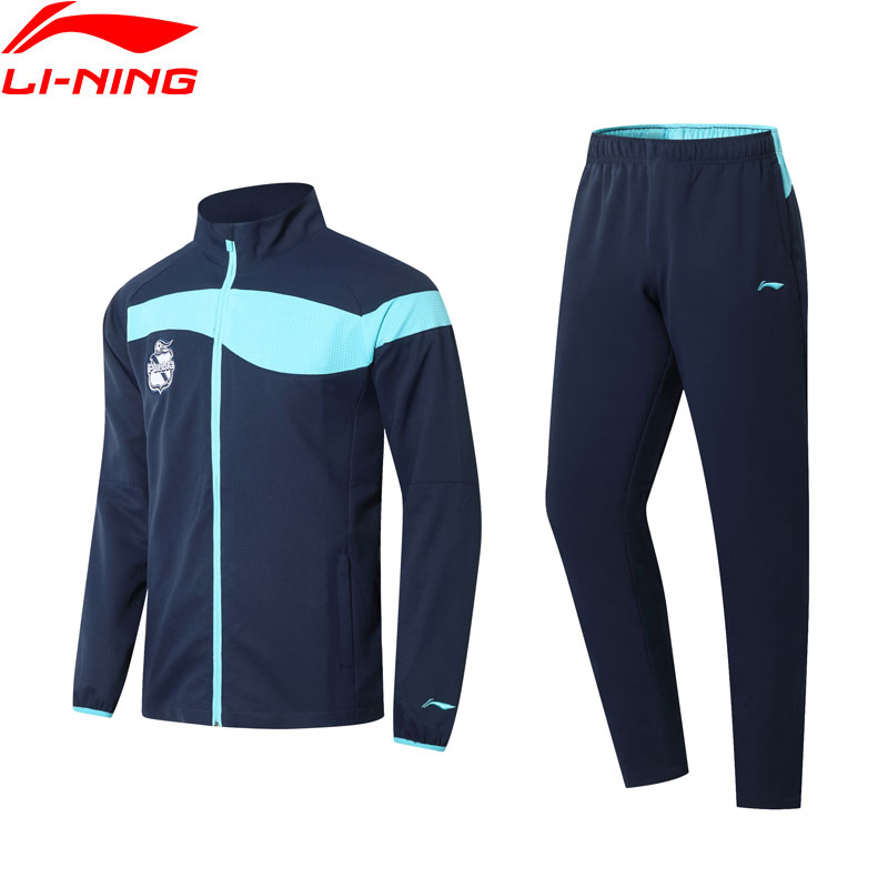 Li-Ning Men Puebla Club Soccer Training Track Suit Full-zip Jacket+Pants Set LiNing Li Ning Sports Comfort Sets AACN003 MSY188