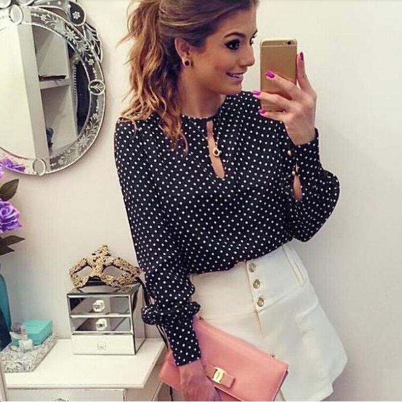844c894a795 2019 Office Blusas Chemise Femme Shirt Women Summer Chiffon Blouse ...