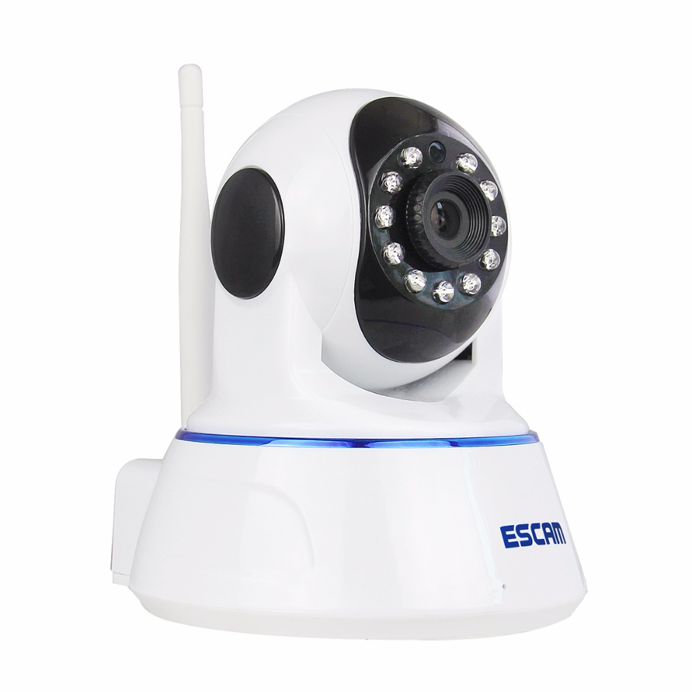 HD 720P Wireless IP Camera Day Night Vision P2P WIFI Indoor Infrared Security Surveillance CCTV Mini Dome Camera Escam QF002 3pcs escam hd3100 1080p ip surveillance camera ir range 20m 2 0 megapixel waterproof day night 24 infrared led night vision