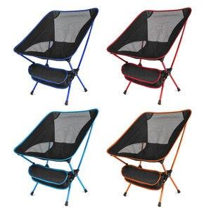 Image 2 - Przenośne siedzisko lekkie krzesło wędkarskie szybka rosja Stock stołek kempingowy składane meble ogrodowe przenośny ultralekki fotel