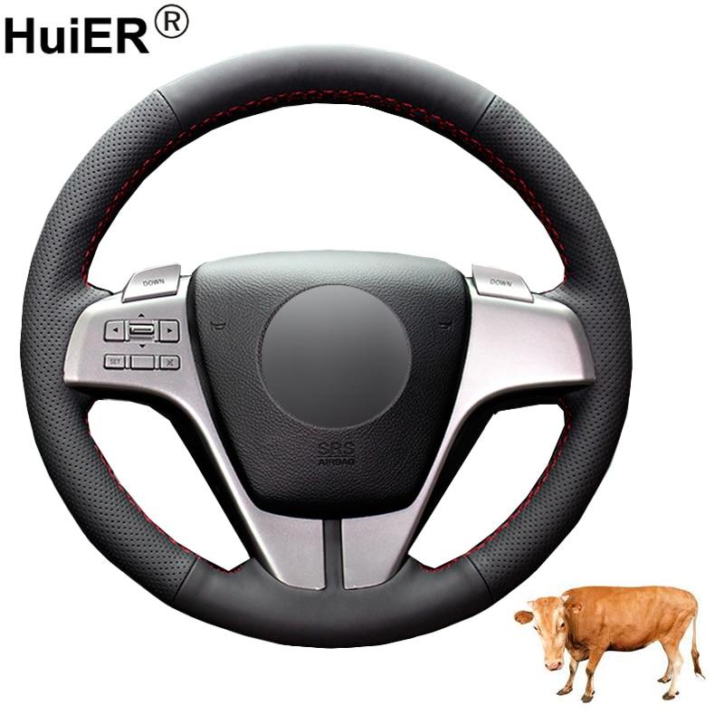Main couture voiture Volant couverture Funda Volante couche supérieure en cuir de vache Volant pour Mazda 6 (GH) 2007 2008 2009 2010 2011 2012