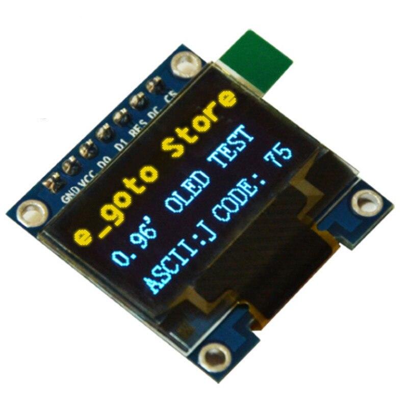0 96 inch IIC SPI Serial 128X64 Yellow Blue OLED Display Module I2C LCD Screen Board