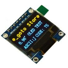 0.96 дюймов IIC SPI последовательный 128×64 цвет желтый, синий; размеры 34–43 OLED Дисплей модуль I2C ЖК-дисплей Экран доска 0.96 «ssd1306 для arduino/STM32/51