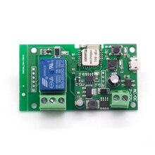 10 шт./лот Sonoff WiFi смарт-пульт дистанционного управления Управление DIY универсальный модуль DC5V 12 32 самозапирающийся Wifi переключатель таймера для умного дома