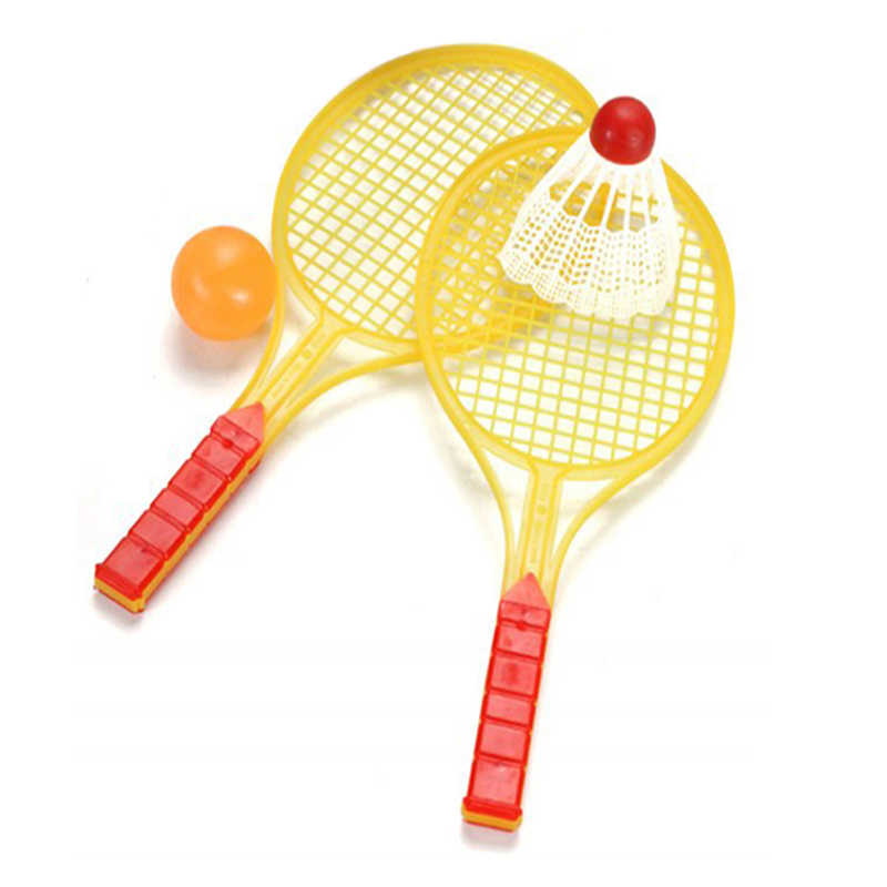 1 pair Novelty Child Tennis Racket Badminton Bat Baby Sports Parent-Child Sports Bed Toy Educational Toys Sports P15