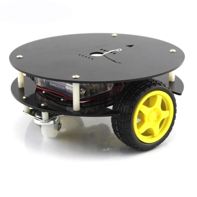 Mini Round Chassis 2WD DIY Smart Car Remote Control RC Robot Obstacle Avoidance Car Electronic Education Set Unassemble F23071