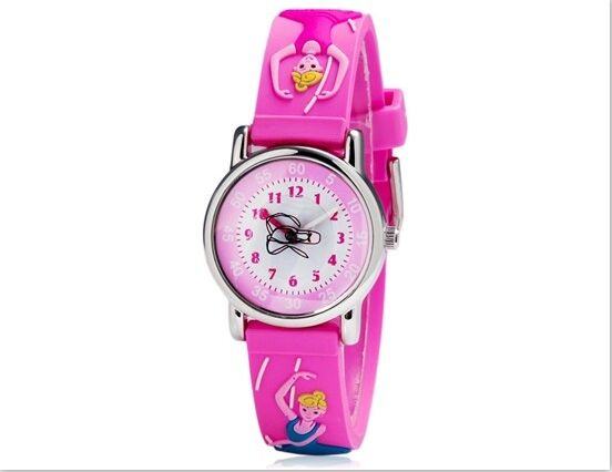 Children Watches Sports Watch Cute Quartz Watch Analog Cartoon Dancing girl Silicone Watch band Kids Student Girl Boy Gift free shipping cute cartoon chick children watch girl kids student fashion leather sport analog quartz wristwatches relojes k1600